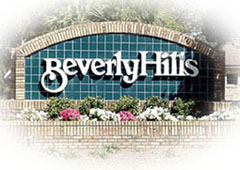 Beverly Hills entrance sign.
