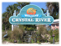 Crystal River welcome sign.