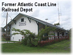 Former Atlantic Coast Line Railroad Depot.