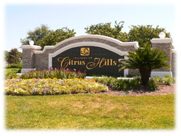 Citrus Hills entrance sign.